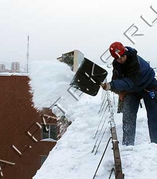 Организация чистки крыши от снега